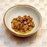 オリーブオイルで納豆を